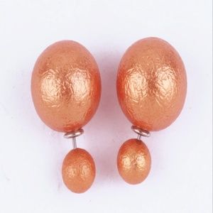 1pair Fashion Candy earring cracked crushed ice